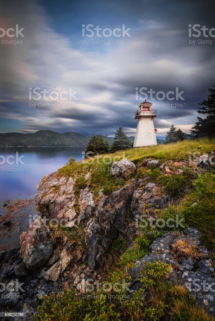 Sunset,  Woody Point, Gros Morne National Park, Newfoundland & Labrador stock photo