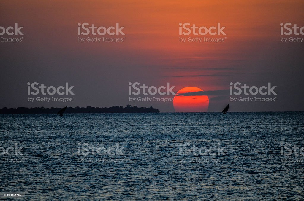 Sunsets around the world stock photo