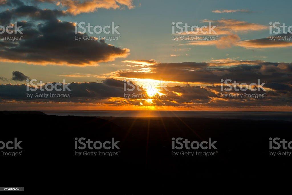 Sunsets over El Cotillo, Fuerteventura stock photo