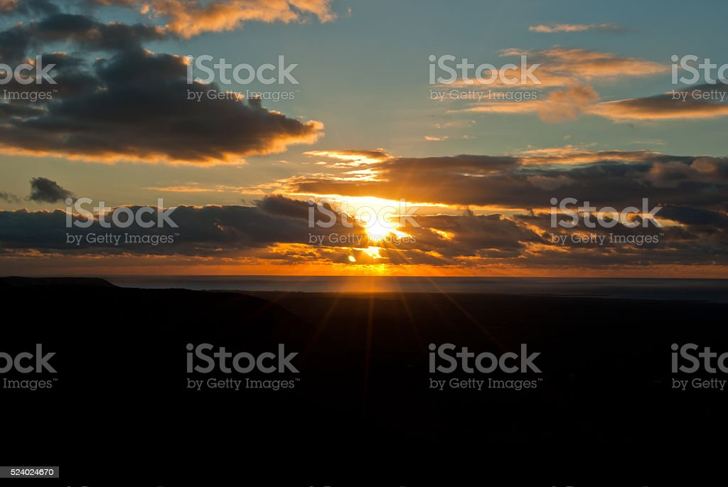 Sunsets over El Cotillo, Fuerteventura stock photo