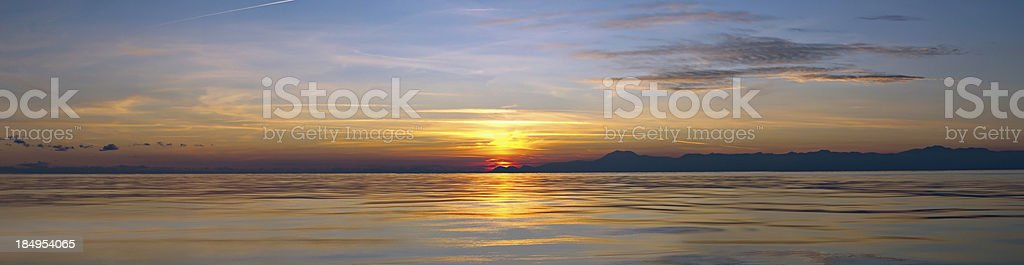 Sunset/Sunrise Panaromic big file royalty-free stock photo