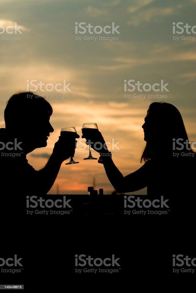 Sunset-Toast royalty-free stock photo