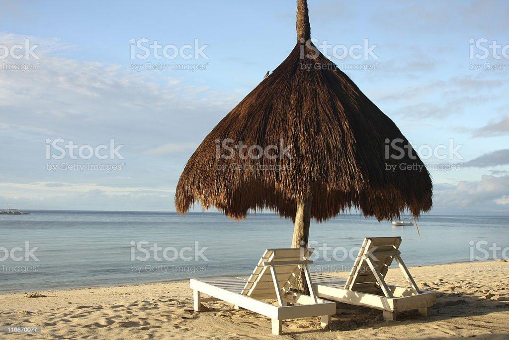 Sun-shade on Bohol royalty-free stock photo