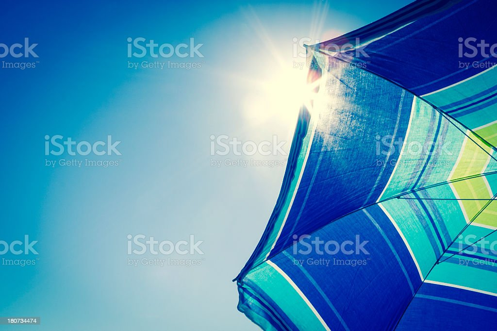 Sunshade stock photo