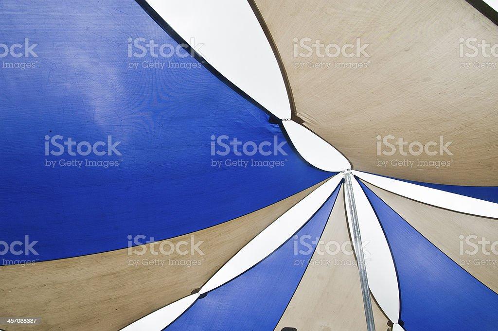 Sunshade Sails stock photo