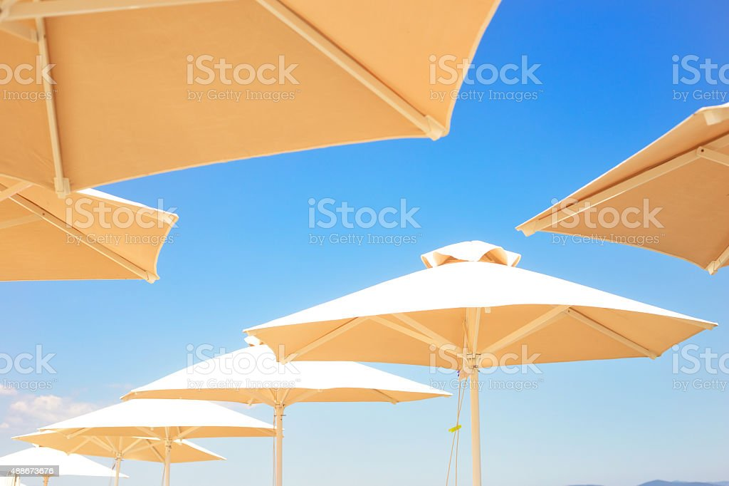 Sunshade umbrella. stock photo