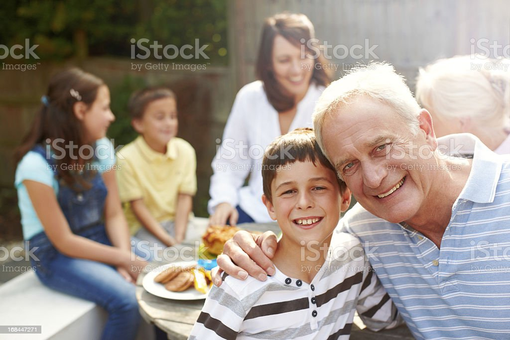 Sunshine and love at a Sunday lunch! royalty-free stock photo
