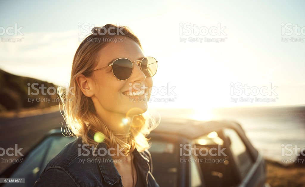Sunshine and smiles stock photo