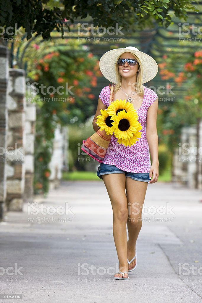 Sunshine and Sunflowers royalty-free stock photo