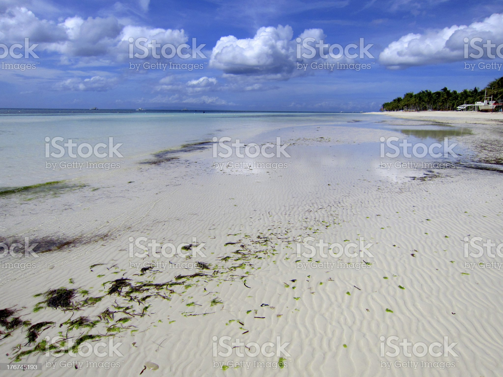 Sunshine Bohol Beach Landscape royalty-free stock photo