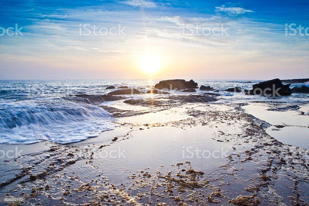 Sunshine Coast, Coastline stock photo