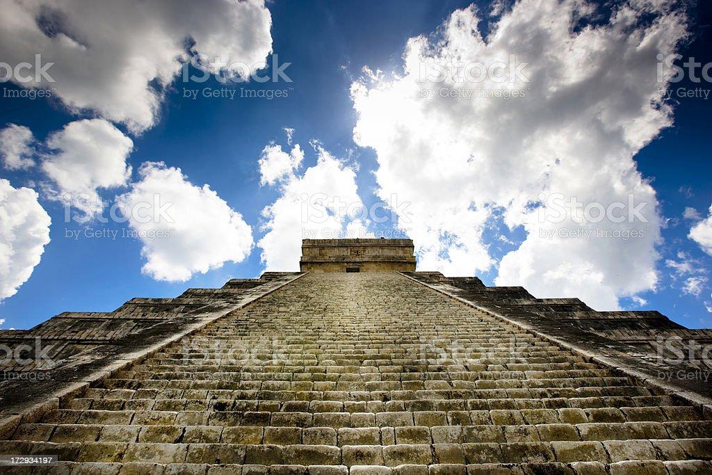 Sunshine in Chichen Itza royalty-free stock photo