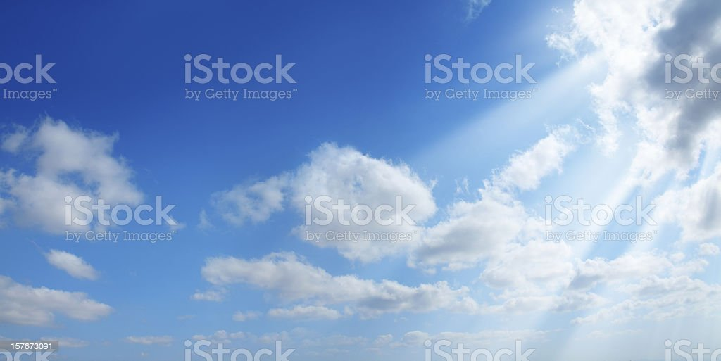 sunshine in clean sky stock photo