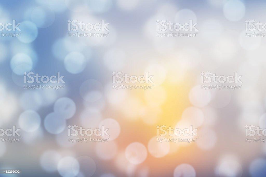 Sunshine Lens blur background stock photo