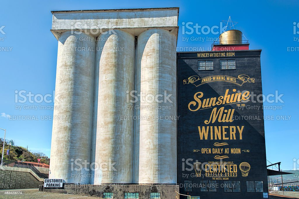 Sunshine Mill Winery in The Dalles stock photo