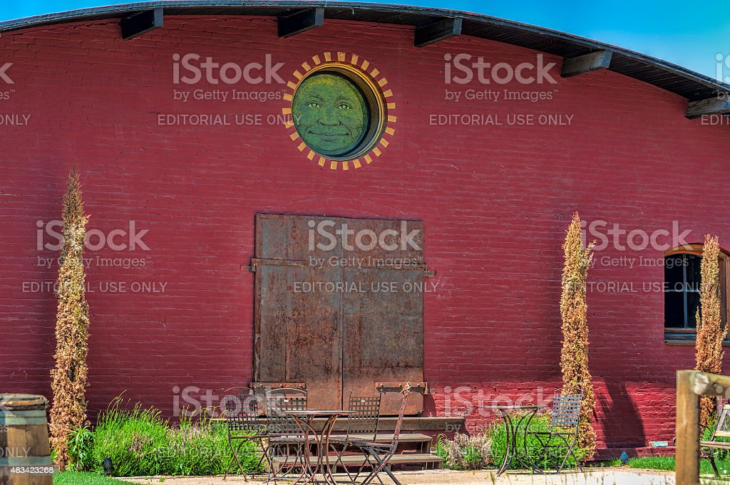 Sunshine Mill Winery outdoor seating stock photo
