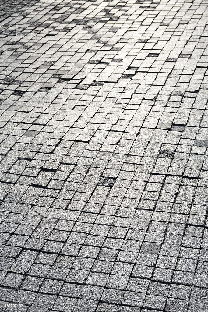 Sunshine on cobblestones royalty-free stock photo