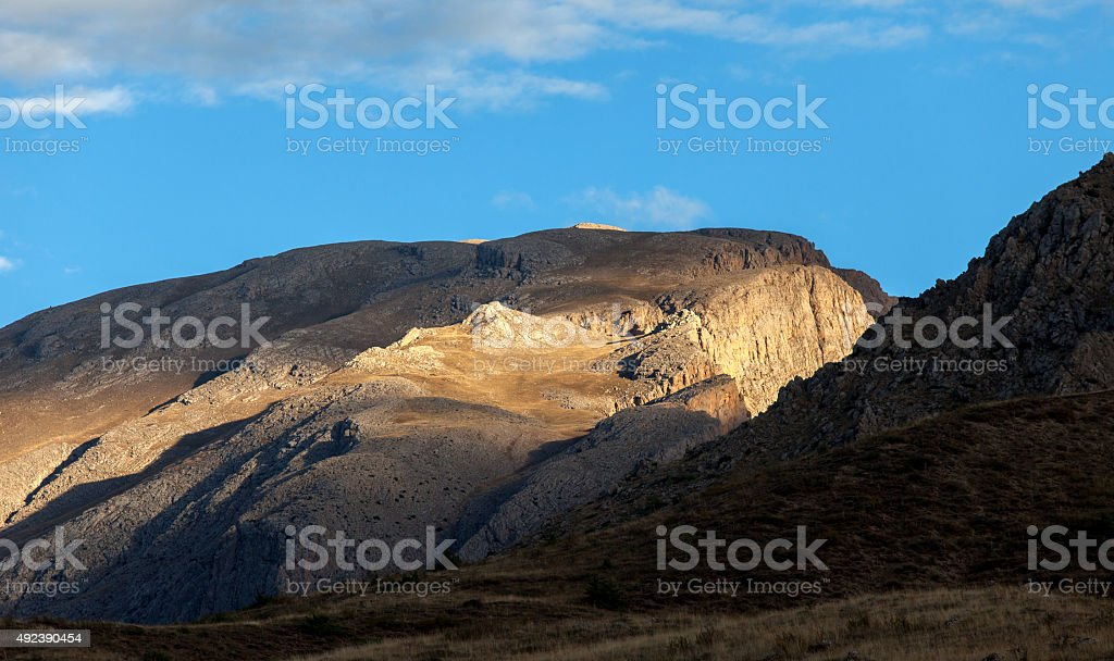 Sunshine on Mountains stock photo
