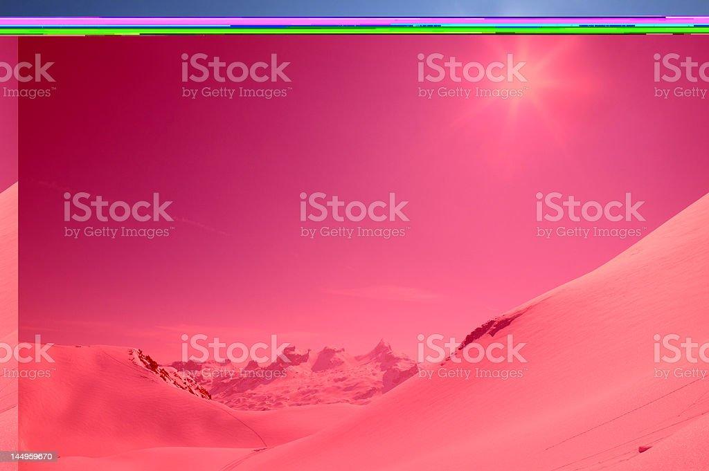 Sunshine over the alps stock photo