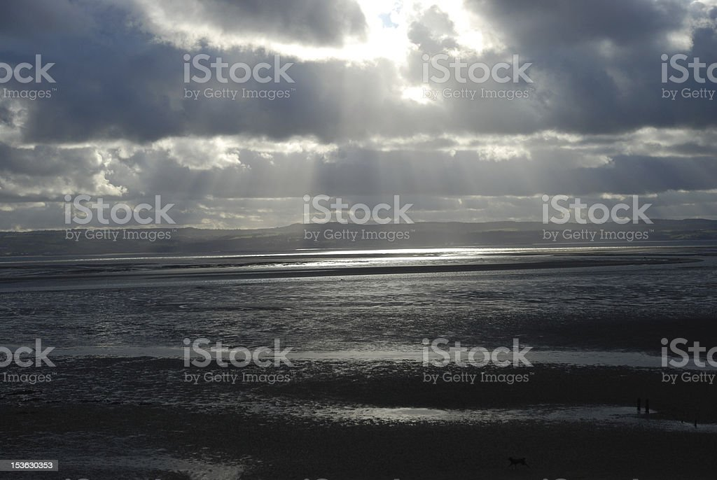 sunshine reflecting on the water royalty-free stock photo