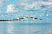 Sunshine Skyway Bridge over Tampa bay in Florida
