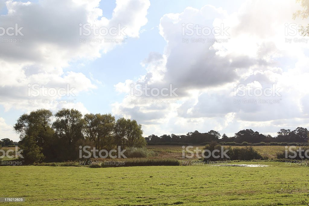 Sunshine through clouds royalty-free stock photo