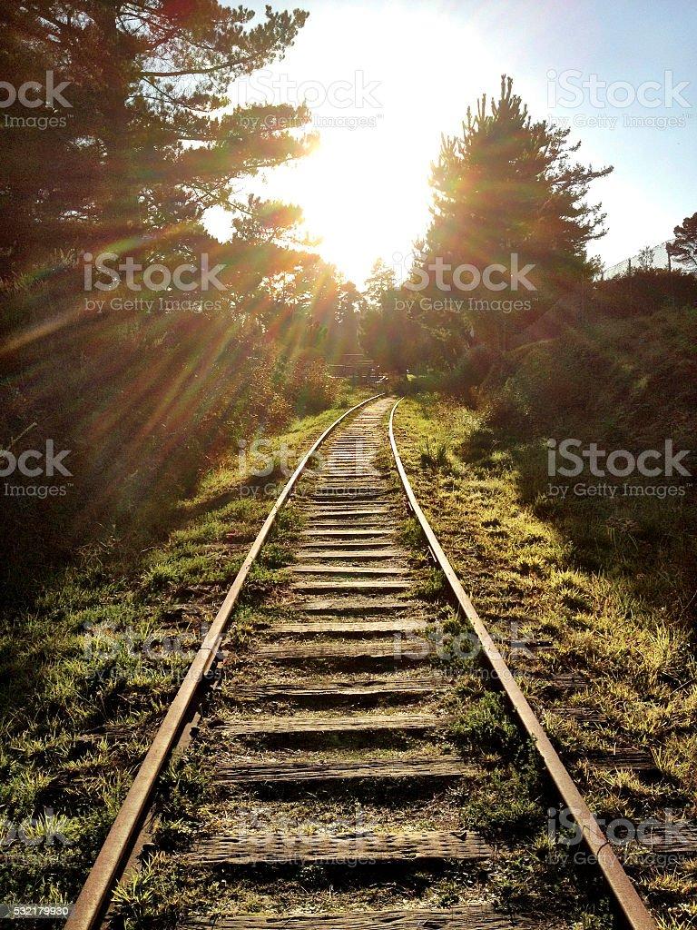 Sunshine tracks stock photo