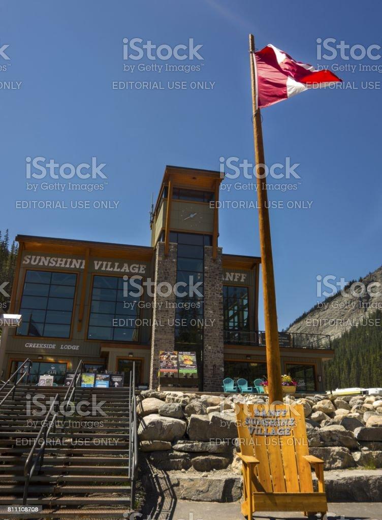 Sunshine Village Lower Terminal stock photo