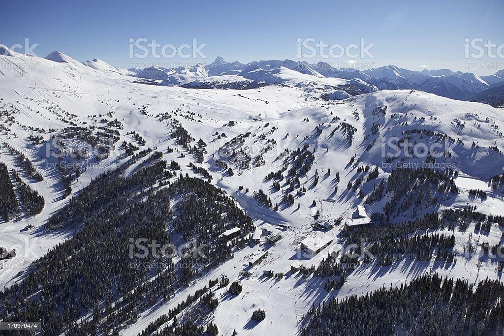 Sunshine Village Ski Resort stock photo