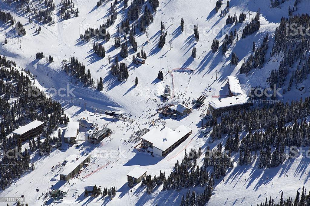 Sunshine Village Ski Resort royalty-free stock photo