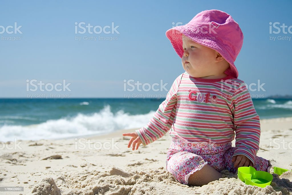 Sun-Smart Baby royalty-free stock photo