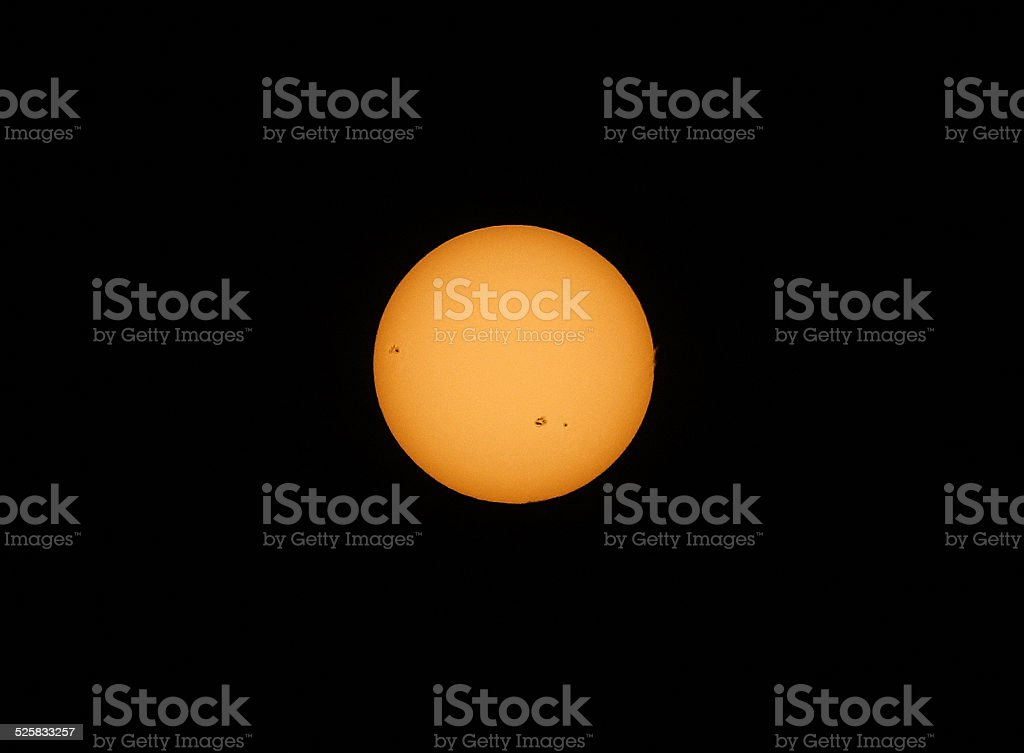 Sunspots and Solar Flares stock photo