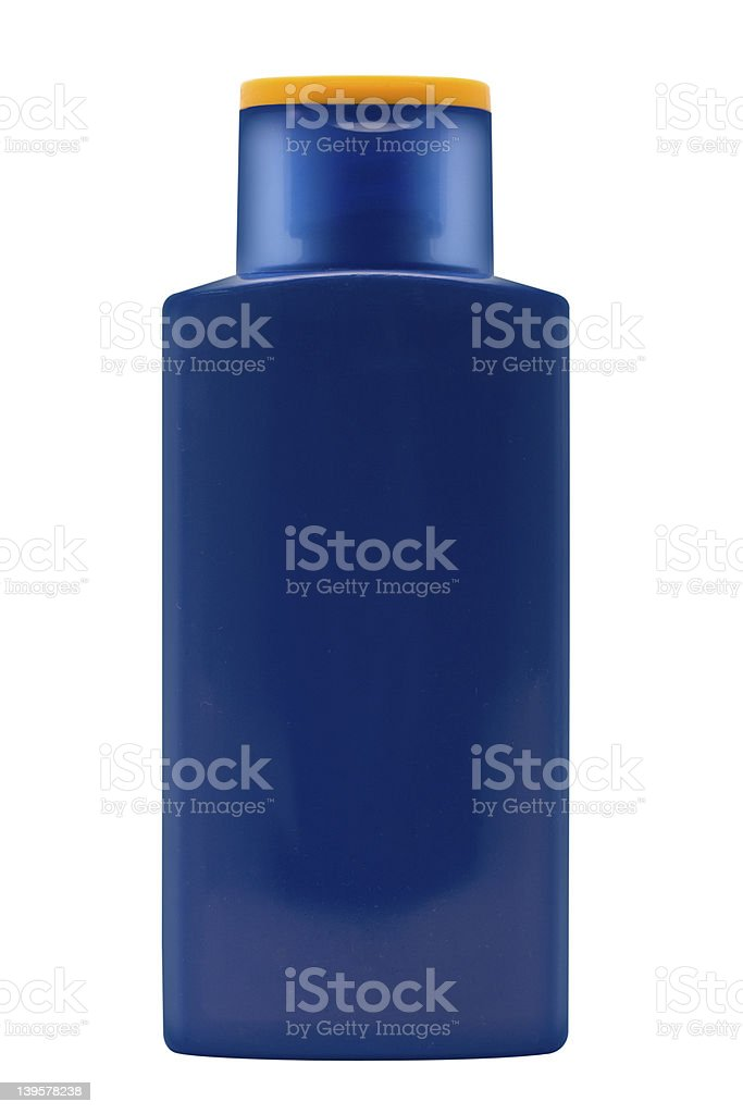 Suntan lotion bottle with clipping path stock photo