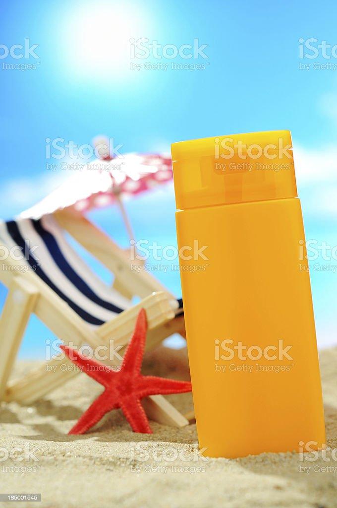Suntan lotion royalty-free stock photo