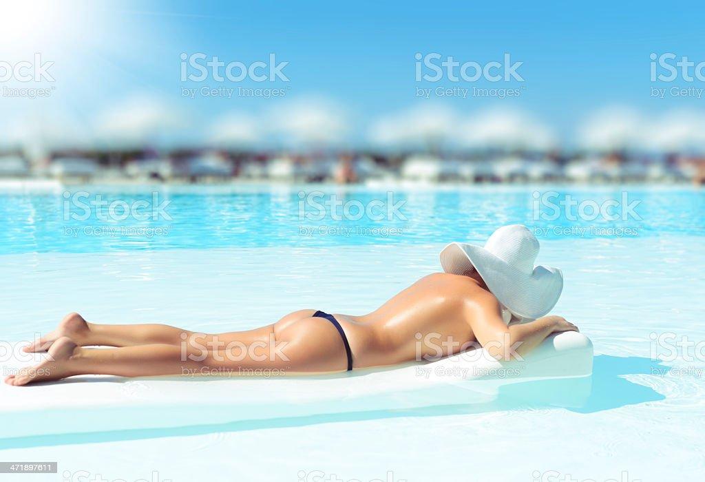 suntan royalty-free stock photo
