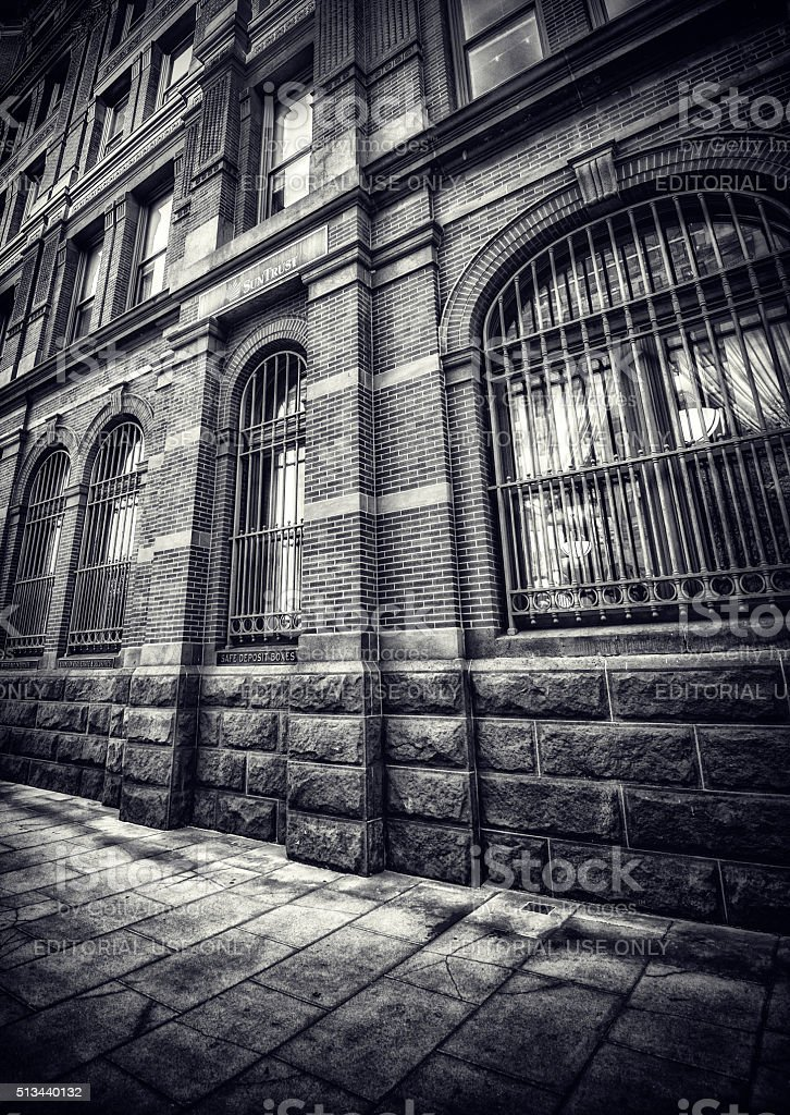 SunTrust Bank Building in Black and White stock photo