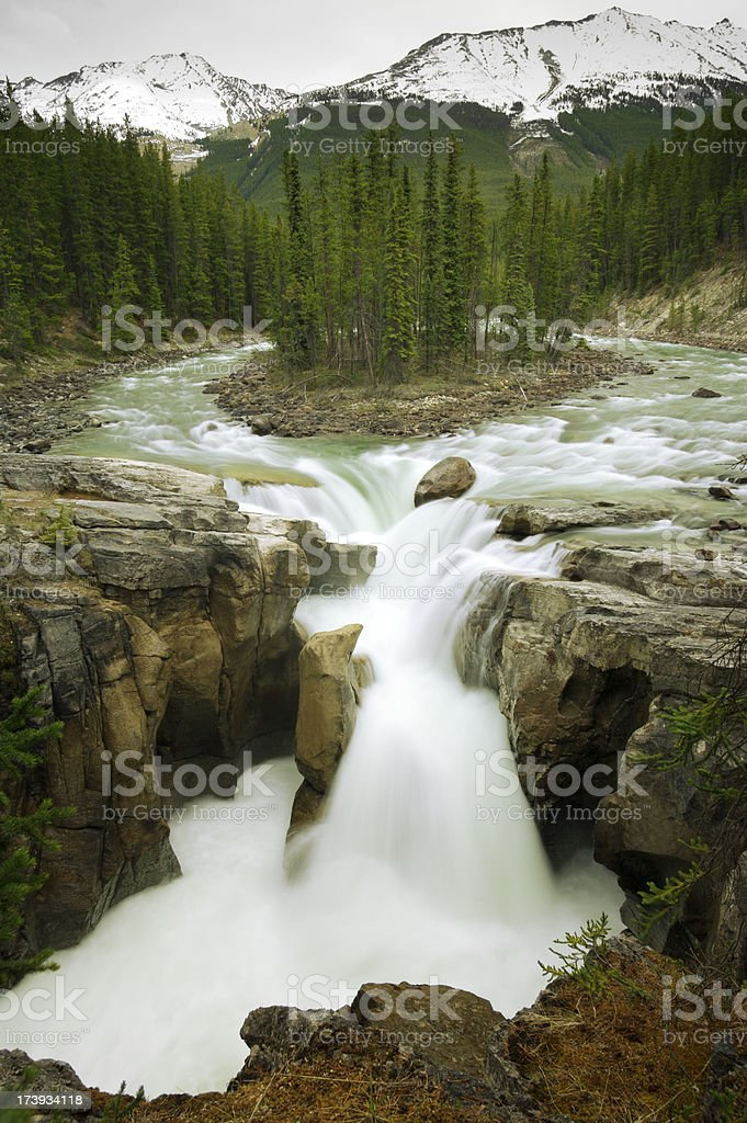 Sunwapta Falls stock photo