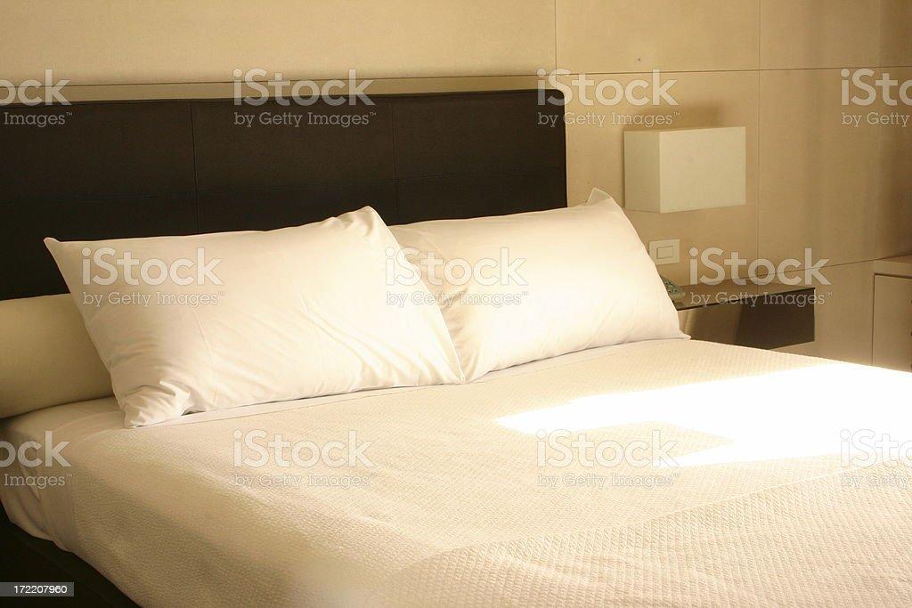 sunwashed bed royalty-free stock photo