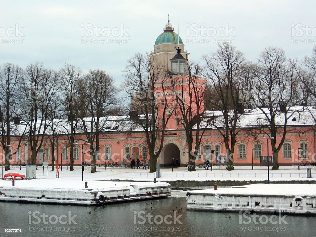 Suomenlinna Island, Helsinki Finland royalty-free stock photo