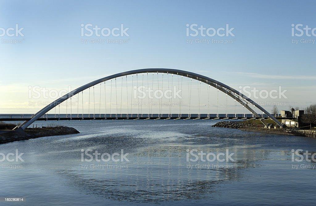 Supension Bridge royalty-free stock photo