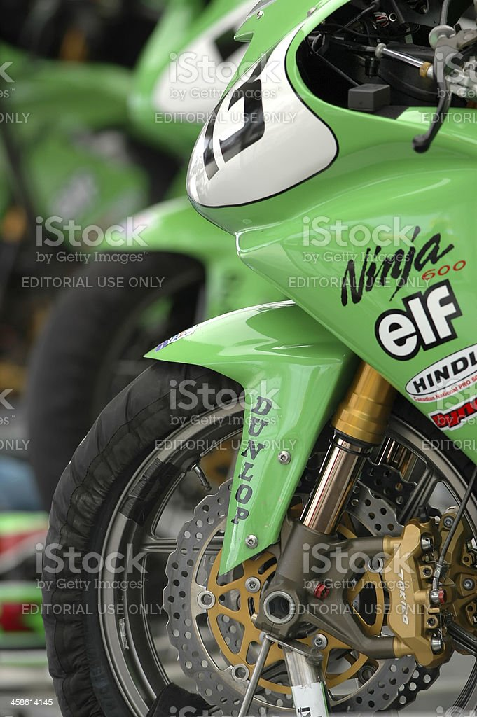 Super Bikes in Pits stock photo