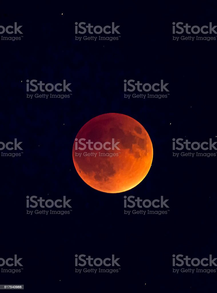 Super Blood Moon Eclipse stock photo
