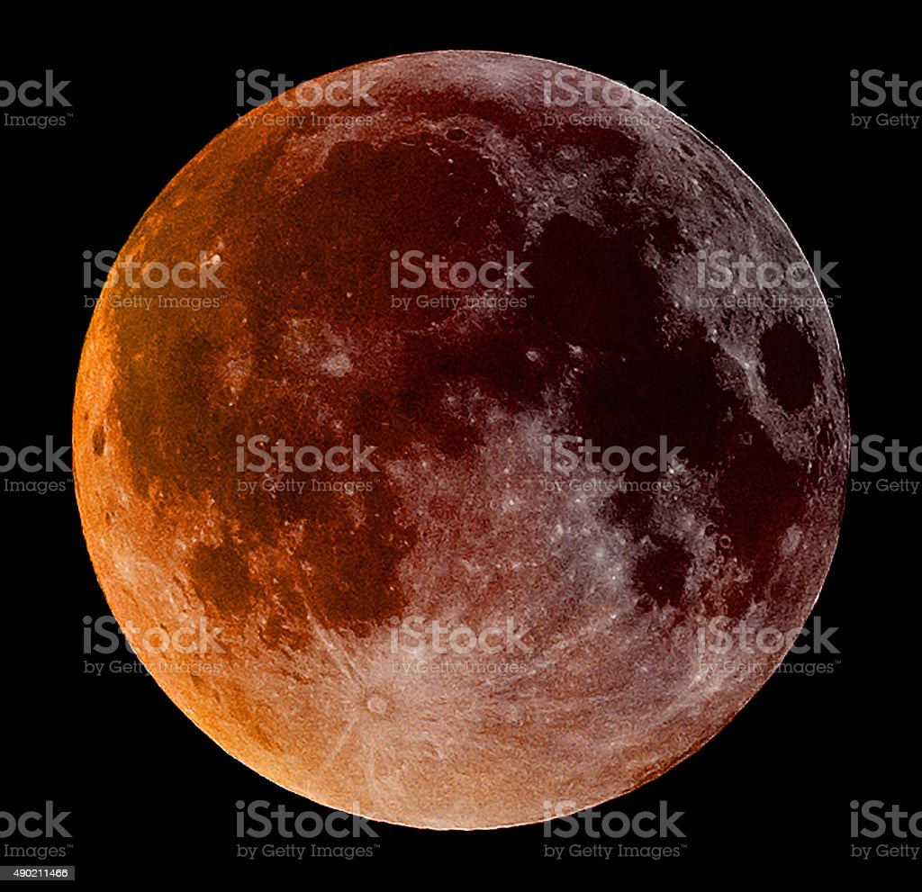 Super Blood Moon stock photo