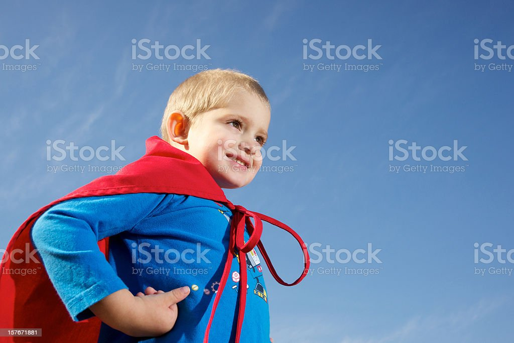 Super boy royalty-free stock photo