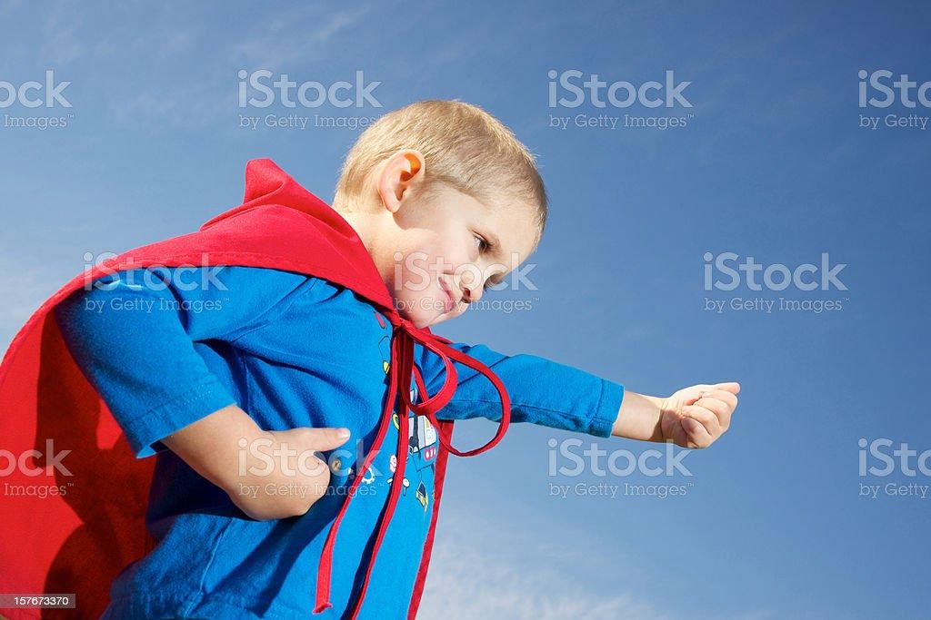 Super boy strikes back royalty-free stock photo