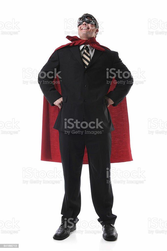 Super Business Hero royalty-free stock photo
