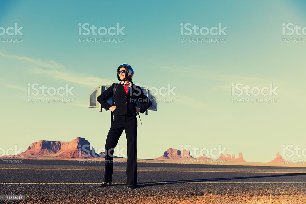 Super Business in Monument Valley stock photo
