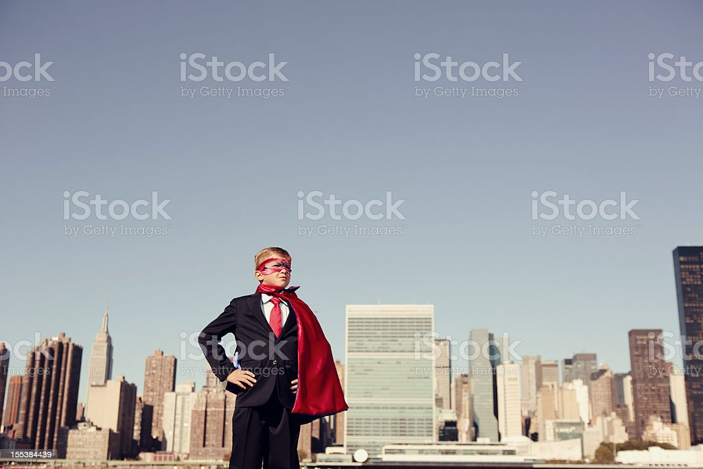 Super Business Kid royalty-free stock photo