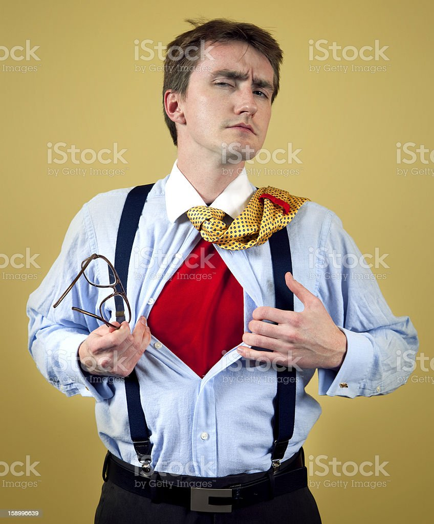 Super Business Nerd royalty-free stock photo