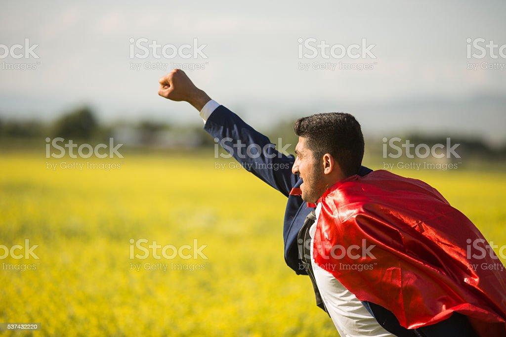 Super Businessman stock photo